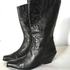 Coldwater Creek Crafted Leather Mid Cuff Boots